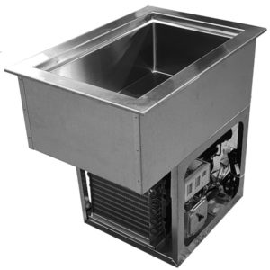 """Refrigerated Cold Pans with 1"""" Deep Top Rails"""