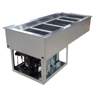 """Refrigerated Cold Pans with 3"""" Deep Top Rails"""